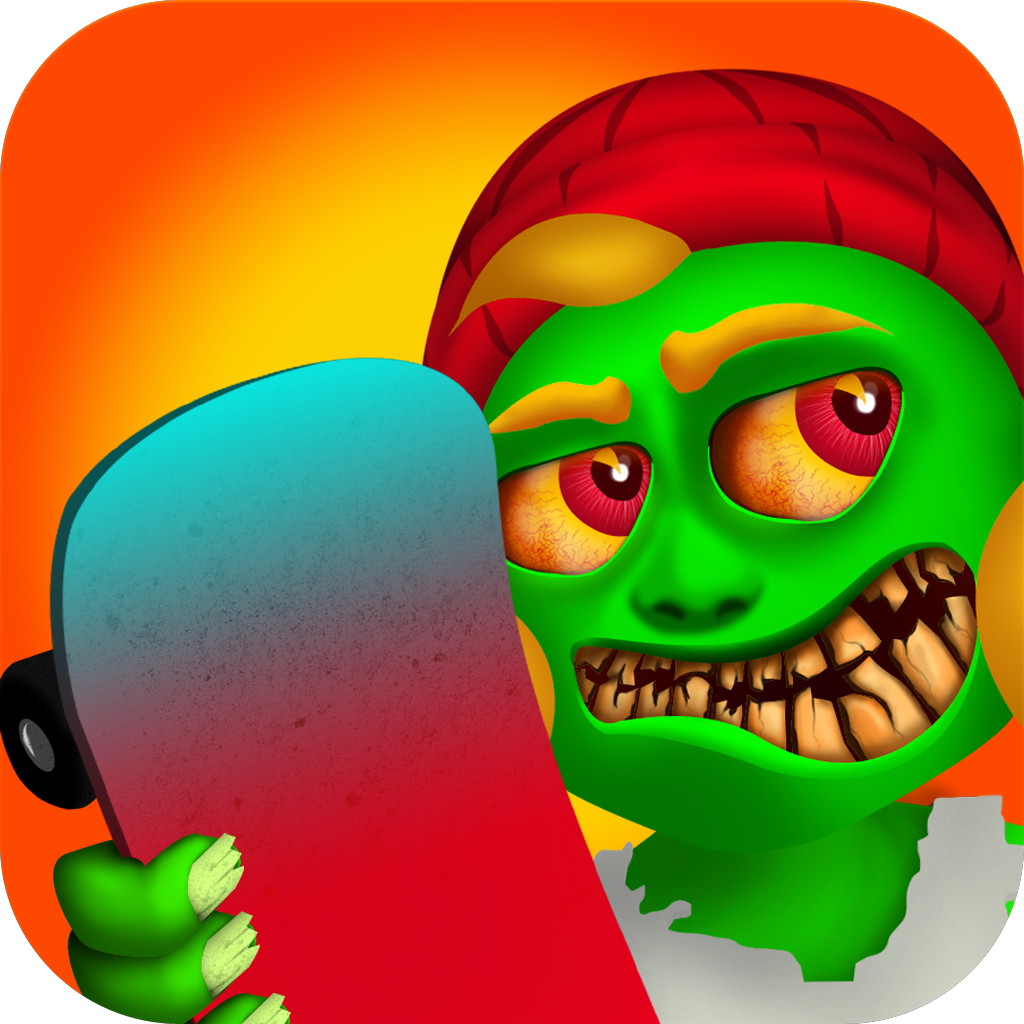Awesome Zombies Halloween - Monster Skateboarding Race HD 8 Free